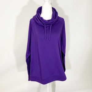 Nike Dri-Fit Cowl Neck Purple Sweatshirt, L